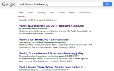 Erste Panini Tauschbörse schon am 24. Mai 2014