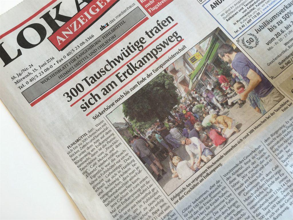Panini Tauschbörse Hamburg in der Presse